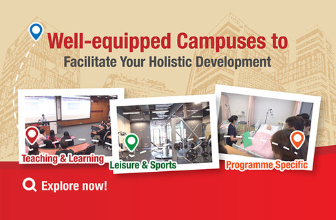 Well-equipped Campuses to Facilitate Your Holistic Development