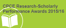CPCE Research-Scholarly Performance Awards 2015/16
