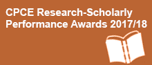 CPCE Research-Scholarly Performance Awards 2017/18