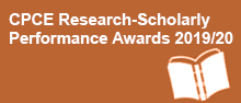 CPCE Research-Scholarly Performance Awards 2019/20
